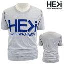 HE>i【ヒー・グレイター・ザン・アイ】【HE GREATER THAN I】【HALEIWA・ハレイワ】【Hawaii発】【ヒーグレイターザンアイ】・Tシャツ・MTS HALEIWA LOGO・サイズS〜L・GRAY・グレー・メンズ・ユニセックス