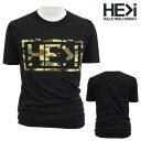 HE>i【ヒー・グレイター・ザン・アイ】【HE GREATER THAN I】【HALEIWA・ハレイワ】【Hawaii発】【ヒーグレイターザンアイ】・Tシャツ・MS CAMO ROGO・サイズS〜L・BLACK・ブラック・メンズ・ユニセックス