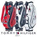 【ネームプレート刻印無料】キャディバッグ ゴルフバッグ トミーヒルフィガー THMG1SC4 CURSIVE CADDIE BAG ゴルフ用品 メンズ レディース・・・