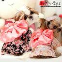 【送料無料!犬服・ドッグウェア・夏・浴衣・お祭り・プチプラ・おしゃれ・可愛い・かわいい・涼しい・犬用浴衣】スナップボタン式。花柄浴衣 その1