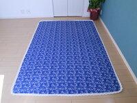 北欧風藍花柄マルチカバーベッドカバー140×200cm