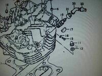 GS400メッキヘッドナット/銅ワッシャーセット純正