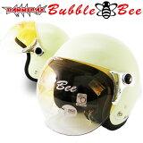 全品クーポン ★ジェットヘルメット上位ランキング獲得商品★ 送料無料 ジェット ヘルメット ダムトラックス バブルビー (DAMMTRAX BUBBLE BEE) 全5色