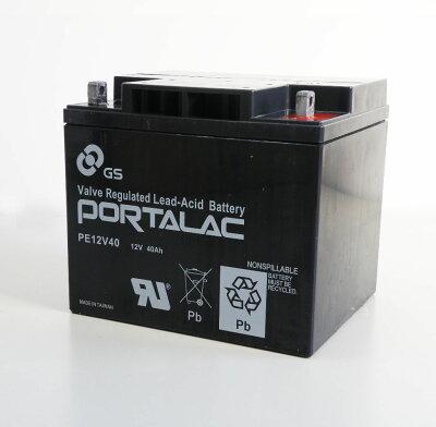 【PORTALACシリーズ】台湾GS・UPS・無停電電源装置・蓄電器用バッテリー小型シール鉛蓄電池[12V40Ah]PE12V40SUZUKIセニアカーにも対応