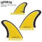 CAPTAIN FIN キャプテンフィン FUTURE フューチャーフィンCHIPPA + NPJ TWIN ESP YELLOW チッパ・ウィルソン&ニールパーチェスJRFUTURE フィン 2-FIN + 1