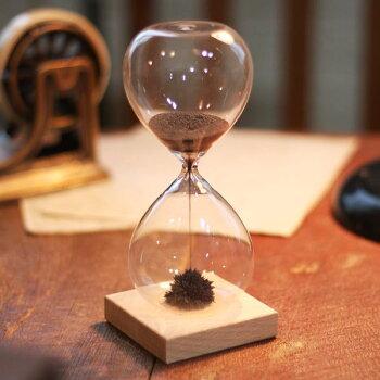 キッカーランド砂時計1分置物オブジェインテリア雑貨おしゃれアートkikkerlandMagneticHourglass