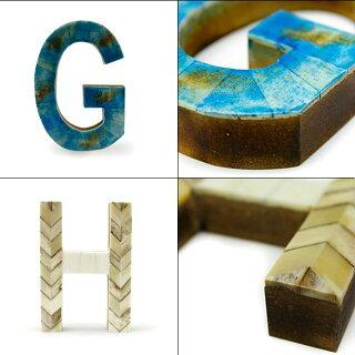[A-N]オブジェアルファベットイニシャルディスプレイパーツ木製骨置物英語数字動物民芸品切り文字グッディグラムスボーンオブジェクトGoodyGramsBONEOBJECT
