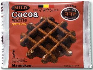 【【マネケン】ベルギーワッフル30個入りココアタイプ】