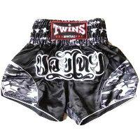TWINSサテンボクシングパンツ99黒龍/ムエタイ/キックボクシング/トランクス/大人用
