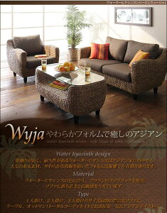 【送料無料】【代引不可】ウォーターヒヤシンスシリーズ【Wyja】ウィージャソファ2人掛け