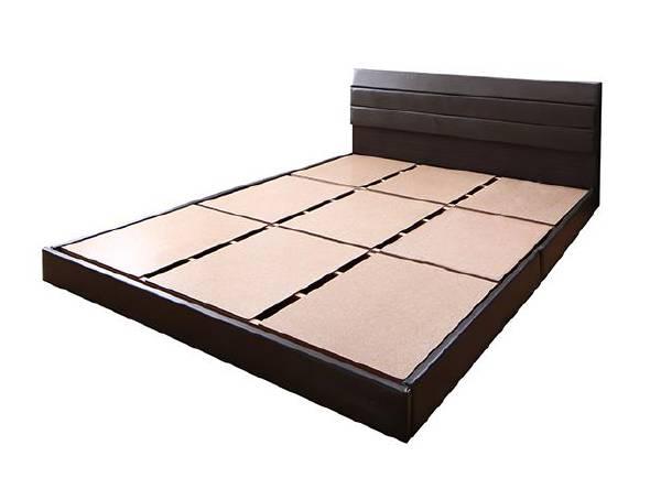(UL) 親子で寝られる棚・コンセント付きレザー連結ベッド Familiena ファミリーナ ベッドフレームのみ シングル(UL1)