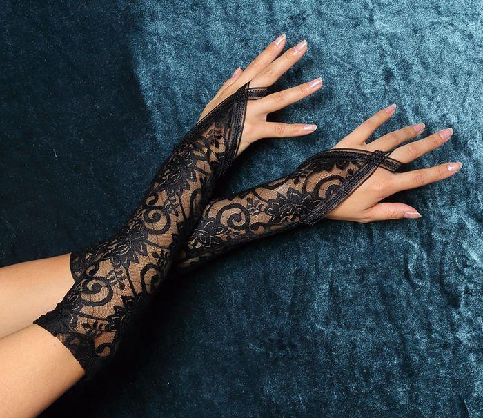 レースグローブ手袋黒かわいいロンググローブ結婚式ウエディングイベントネイルmagicaldollpremiumコスプレ衣装◆取寄せ