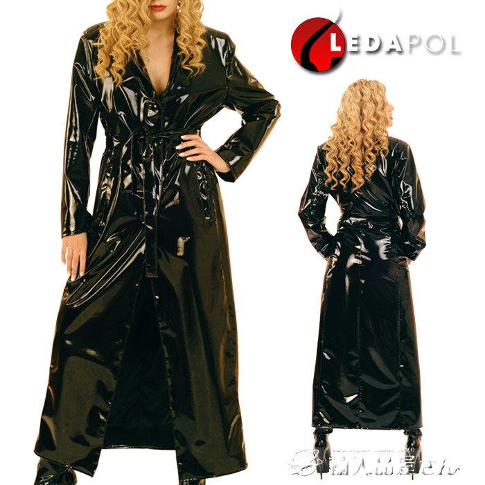 ロングコート 黒 レディース エナメル素材 光沢あり ボンデージ(ボンテージ)ファッション在庫処分 訳あり アウトレット LD-1168:輸入品屋さん