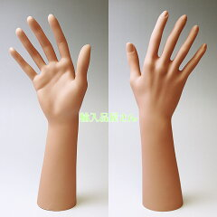 即納 ハンドマネキン (手 マネキン) ハンド トルソー 綺麗な肌色 ベージュ 腕は、ひじ近くまで...