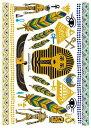 タトゥーシール リアルなフェイクタトゥー エジプト柄 コスプレ ハロウィン ボディペイント 腕 足 背中など 好きな所に貼れるシール