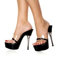 Pleaser/ALLURE-601H-CLR-BLK
