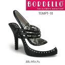 BORDELLO 2トーン3連ストラップハイヒールパンプス PL-Tempt-10 ◆取り寄せ