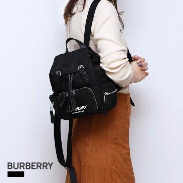 バーバリー BURBERRY バックパック レディース リュックサック バッグ カバン ロゴプリント ナイロン ブラック 80212581