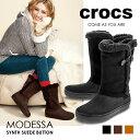 クロックス crocs Modessa Synth Suede But...