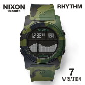 【超目玉】ニクソン NIXON RHYTHM リズム ユニセックス 時計 腕時計 - 【カジュアル スケーター ストリート ファッション ブランド アメリカ】 とけい ウォッチ デジタル ラバー 迷彩 A385 ブラック ホワイト マルチカラー