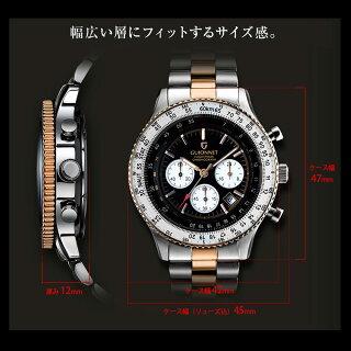 GUIONNETギオネ腕時計メンズクロノグラフ10気圧防水