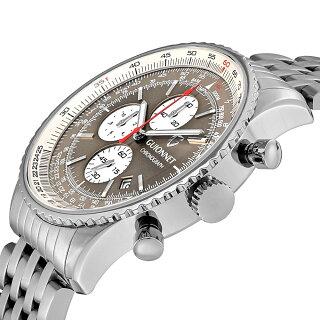 ギオネGUIONNETFlightTimerProfessionalメンズ時計腕時計PG-FT44SBR【ブランド】とけいウォッチ