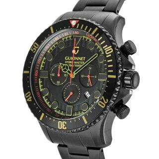 ギオネGUIONNETハイドロマスタープロダイバークロノグラフメンズ時計腕時計PG-HM44BBKH【ブランド】とけいウォッチ
