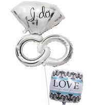 ウェディングリング&LOVE♥の結婚式お祝いブーケ