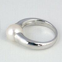 アコヤ真珠8.5mm珠リング【K10ホワイトゴールド】【アコヤ真珠・パール】【送料無料】【フォーマル】
