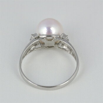アコヤ パール リング 9.0mm【Pt900】【アコヤ 真珠】
