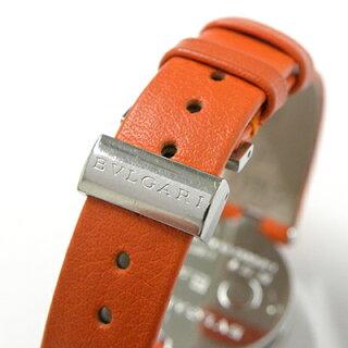 ブルガリビーゼロワンBZ22Sオレンジ【BVLGARI・B-zero1・腕時計・ブルーシェル文字盤・12Pダイヤモンド・SS・レディース・女性・クォーツ・ブランド】【】【質屋出店】カード分割