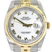 ロレックス 116233【ROLEX・メンズ・腕時計・SS/YG・自動巻き・ホワイトローマン・白文字盤・ランダム・コンビ・ブランド】【中古】【質屋出店】