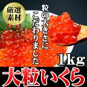 【送料無料】超人気 激うま醤油漬イクラ1kg