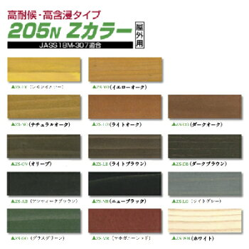 ノンロット205NZカラー14L注ぎ口付き屋外用油性木材保護塗料三井化学産資株式会社