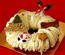 パティシェの手作り・人間用の素材を使用、ワンコのためのクリスマスケーキ(犬用クリスマスケー...