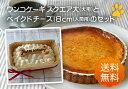 パティシェの手作り・人間用の素材を使用、ワンコ(犬用)ケーキ(スクエア大)とベイクドチーズケ...