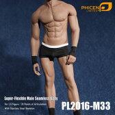 【Phicen】PL2016-M33 male super flexible seamless body with metal skeleton ファイセン 1/6スケール シームレス男性ボディ(ヘッドなし)