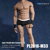 【TBLeague】PL2016-M33 male super flexible seamless body with metal skeleton TBリーグ 1/6スケール シームレス男性ボディ(ヘッドなし)