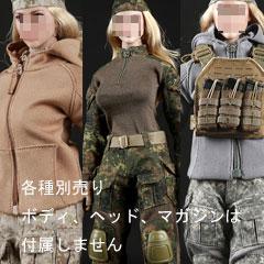 【FireGirlToys】FG015 FG016 FG017 Tactical Female Gunners camouflage suit 1/6スケール 女性コスチューム