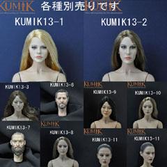 KUMIKの1/6スケールヘッドシリーズ 各種別売り【Kumik】Head 13-1 13-2 13-3 13-6 13-7 13-8 1...