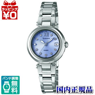 SHW-1504D-6AJF Casio SHEEN domestic regular product 5 bar waterproof radio solar (Japan and China two-station receive) Swarovski element adoption watch watch WATCH sales type Womens Christmas gifts fs3gm