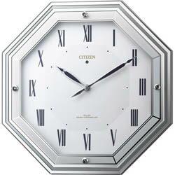 全世界送料無料/4MY836-005サイレントソーラールーチェ CITIZEN シチズン ソーラー電源電波掛時計(ソーラー電源+補助電池) 掛け時計 プレゼント フォーマル:Gショック 腕時計 わっしょい村