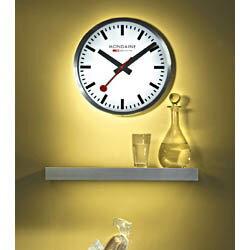置き時計・掛け時計, 掛け時計 10OFFA995.CLOCK.16SBB MONDAINE 40cm WATCH