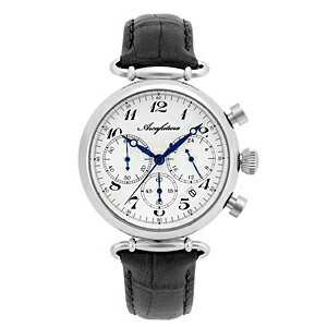515WHBKARCAFUTURAアルカフトゥーラクォーツ皮バンドクロノグラフメンズ腕時計