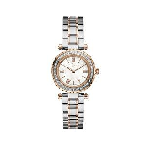 X70143L1SGCジーシーゲスコレクションMiniChicピンクゴールドコンビメタルバンドラインストーンアナログレディース腕時計国内正規品送料無料