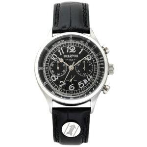 G11004SBGOLDPFEILゴールドファイルウォッチG11004Series革バンドクロノグラフメンズ腕時計