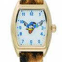 【エントリーでポイント11倍】DND-SQUARE10-GD-PAN Disny ディズニー MICKEY ROLLING ローリング ドナルド 革バンド アナログ トノー レオパード レディース腕時計 送料無料 送料込 おしゃれ かわいい ブランド