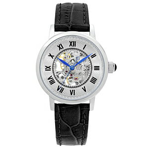 22825SKBKARCAFUTURAアルカフトゥーラスケルトン手巻き皮モデルメンズ腕時計