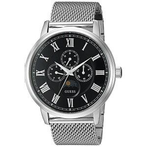 W0871G1GUESSゲスDELANCYデランシーMensDress黒文字盤ブラックアナログカレンダー付メンズ腕時計国内正規品送料無料