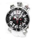 6050.8WH GaGa MILANO ガガミラノ 白 ラバーバンド ホワイト アナログ ビッグフェイス クオーツ メンズ 腕時計 送料無料